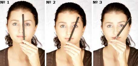 Как определить форму бровей